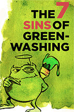 Icon showing a small goblin with green paint symbolizing greenwashing